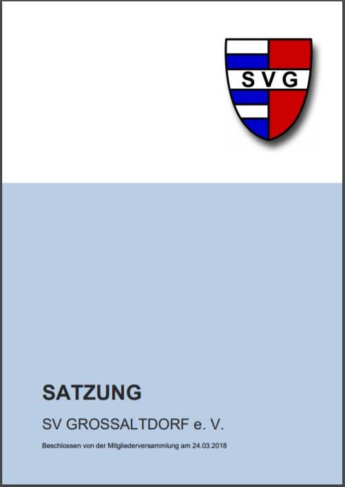 Titelblatt der Satzung des SV Großaltdorf mit Link zur Satzung als PDF-Datei (535 KB)