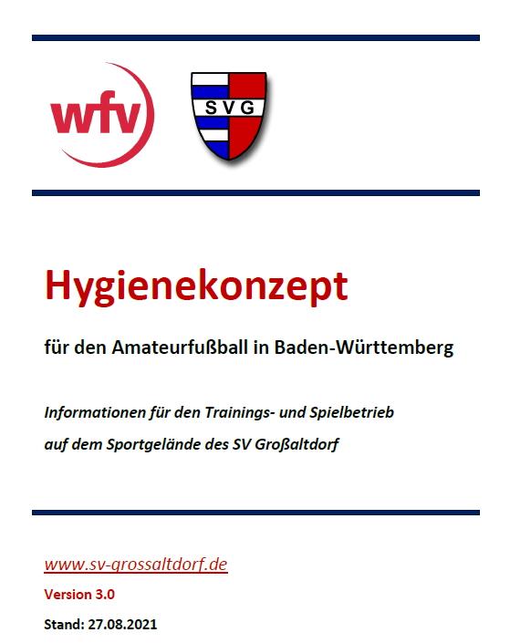 Titelblatt des Hygienekonzepts des SV Großaltdorf mit Link zur PDF-Datei (311 KB)